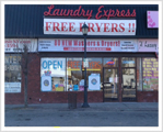 Levittown Laundromat front view.
